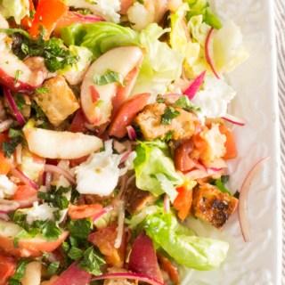 Peach Panzanella Bread Salad