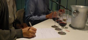 Notetaking in a wine Masterclass