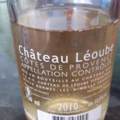 What I'm drinking now – 2010 Ch. Leoube rose