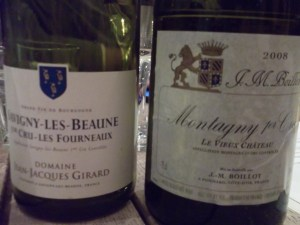 red and white Burgundies
