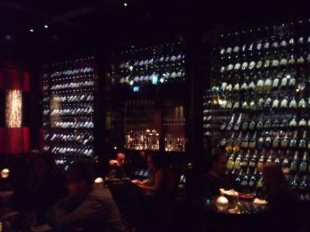 Wall of Wine cellar