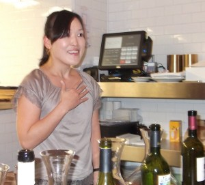 Honami Matsumoto, head sommelier