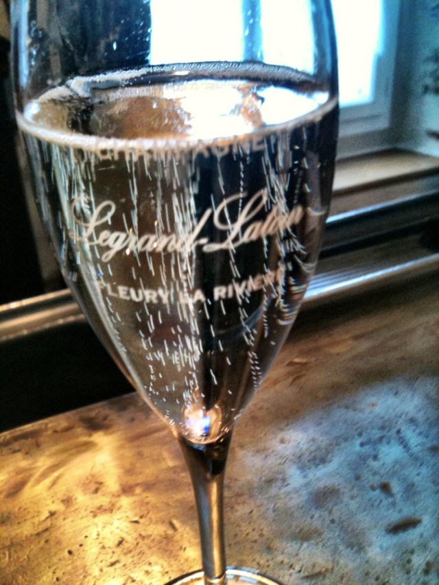 glass of Legrand-Letour champagne