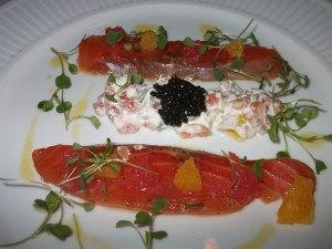 smoked salmon to start