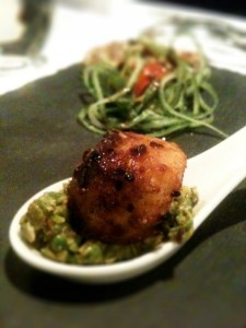 seared scallops from Moti Mahal, Covent Garden, London