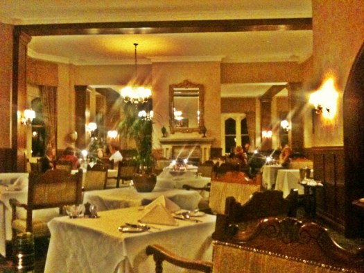 dining room of Ashdown Park