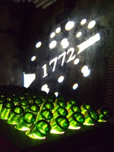 riddling table in the cellar