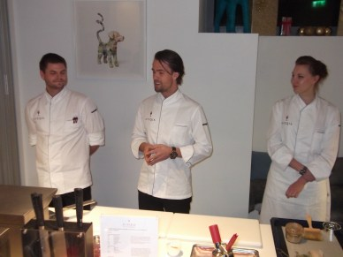 (L-R) Chefs Daniel, Peter &amp; Celine 