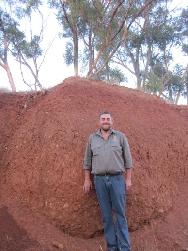 Anthony and the Barossa soil