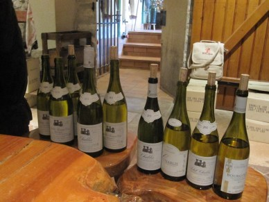 lineup of Geoffroy Chablis' to try