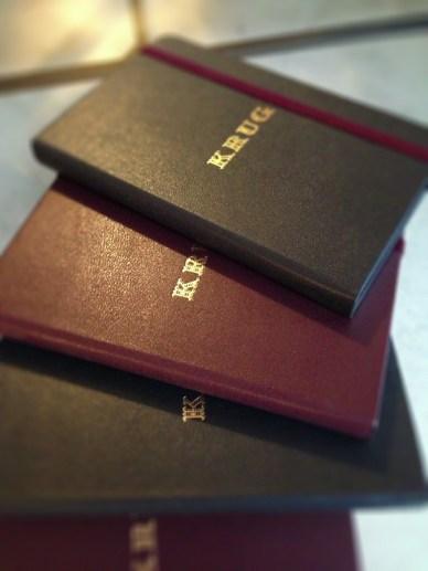 Krug's iconic notebooks