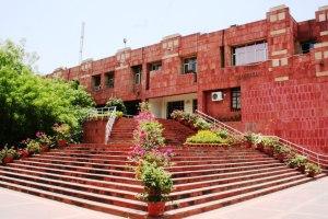 On the JNU campus. Source: JNU