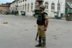 A soldier on the streets of Kashmir. PTI/Files