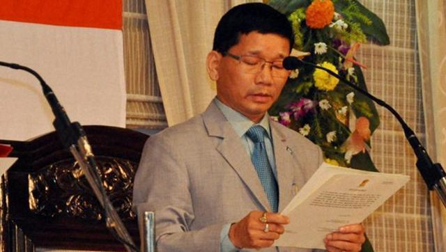 Kalikho Pul at his chief ministerial swearing-in ceremony. Credit: PTI