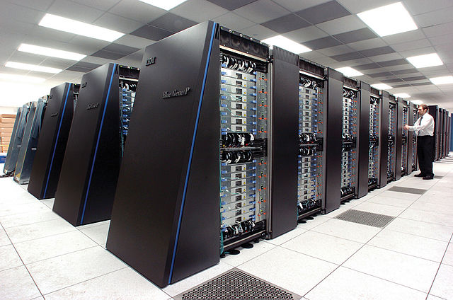 The IBM Blue Gene/P supercomputer. Credit: Argonne National Laboratory/Wikimedia Commons, CC BY-SA 2.0