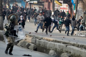 File photo of 2015 protest Srinagar. Credit: Reuters