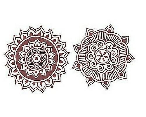 рисунки мехенди эскизы фото