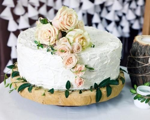 Торты одноярусные свадебные без мастики фото