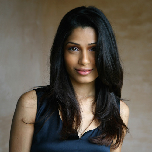 DUBAI, UNITED ARAB EMIRATES - DECEMBER 17: Actress Freida Pinto during a portrait session on day seven of The 5th Annual Dubai International Film Festival held at the Al Qasr Jumeirah Hotel on December 17, 2008 in Dubai, United Arab Emirates. (Photo by Gareth Cattermole/Getty Images) Local Caption Anil Kapoor