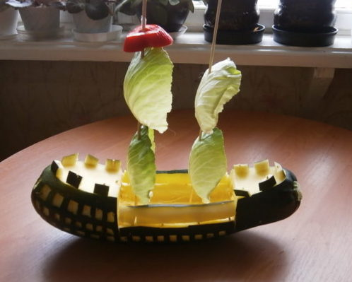 Сделать поделку из кабачка в детский сад 54