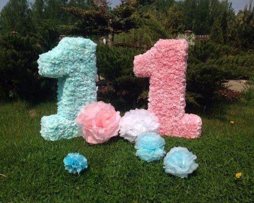 Картонная цифра на день рождения своими руками 75