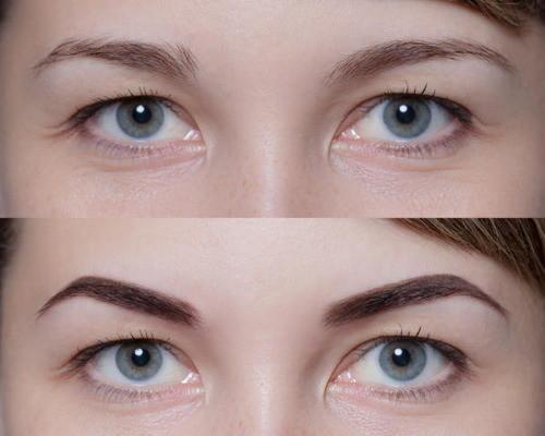 Возрастной макияж для нависшего века и увеличения глаз пошаговое 16