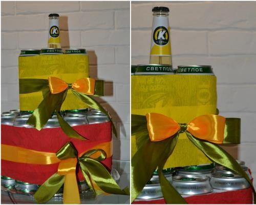 Подарки с поздравлением вот тебе банка пива чтобы