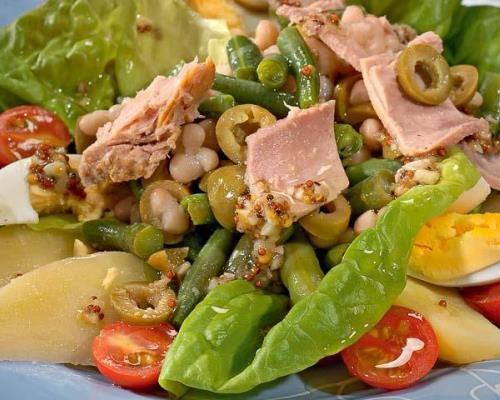 салат нисуаз с тунцом классический рецепт от джейми оливера