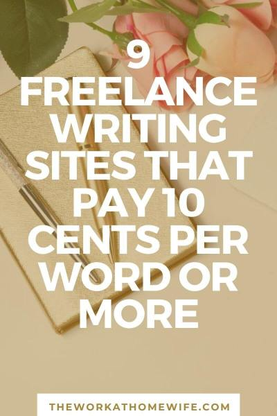Freelance writing jobs that pay $.10 per word or more