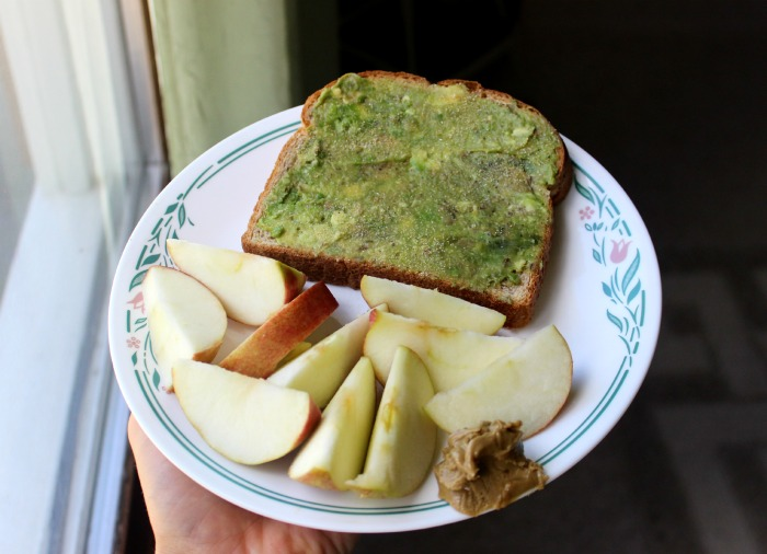 avocado toast apple sunbutter