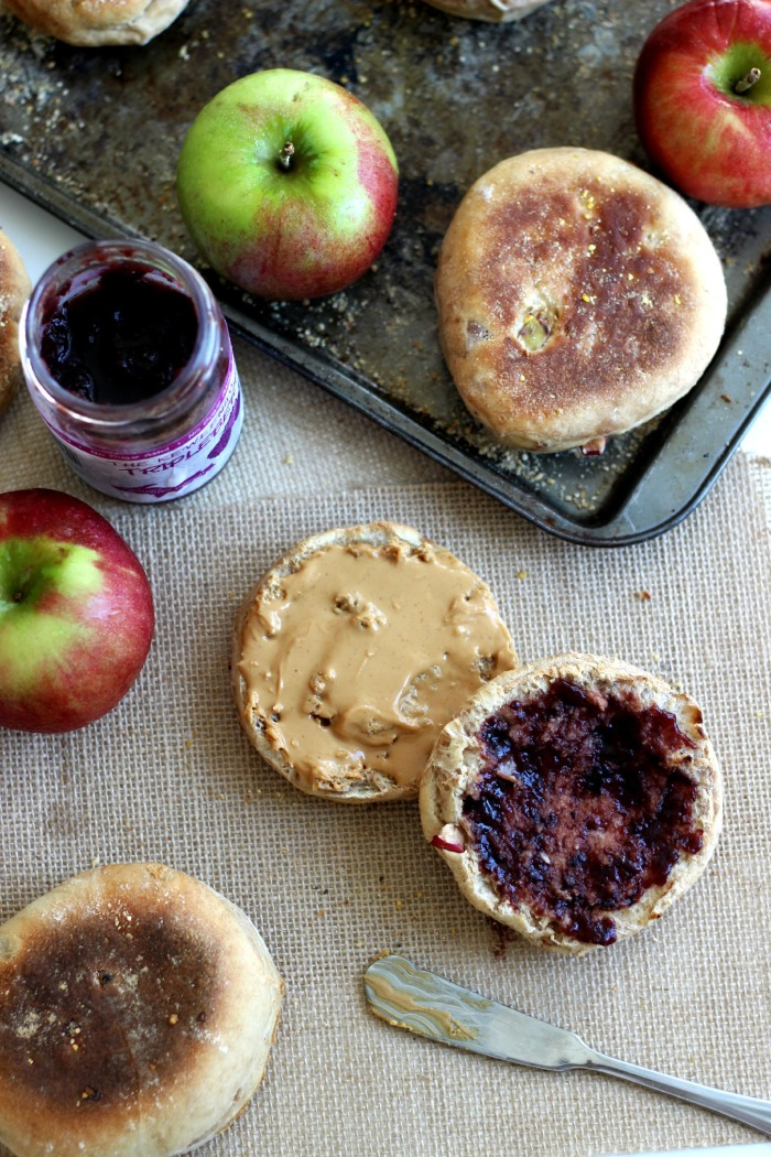 Homemade Apple Spiced English Muffins on The Yooper Girl
