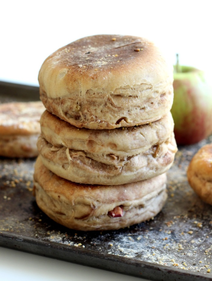 apple pie spiced english muffins ~ the yooper girl