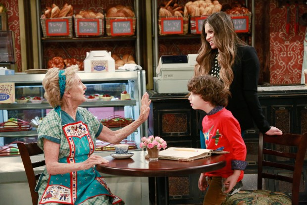 "GIRL MEETS WORLD - ""Girl Meets Gravity"" - Riley and Maya are anxious to begin eighth grade and have a new teacher, that isn't Riley's father. Meanwhile, Mrs. Svorski asks Topanga to take over at the bakery. This episode of ""Girl Meets World"" airs Monday, May 11 (8:30 PM - 9:00 PM ET/PT), on Disney Channel. (Disney Channel/Ron Tom) CLORIS LEACHMAN, AUGUST MATURO, DANIELLE FISHEL"
