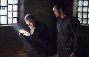 """THE STRAIN -- """"By Any Means"""" -- Episode 202 (Airs July 19, 10:00 pm e/p) Pictured: (l-r) David Bradley as Abraham Setrakian, Kevin Durand as Vasiliy Fet. CR: Michael Gibson/FX"""