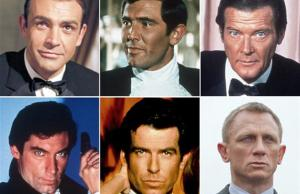 A look back at the men that made James Bond come to life on the big-screen