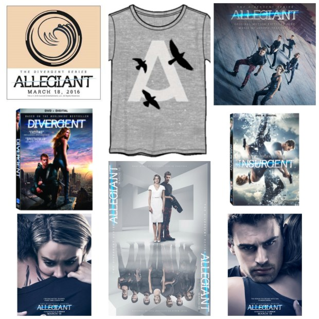 Allegiant prize pack collage