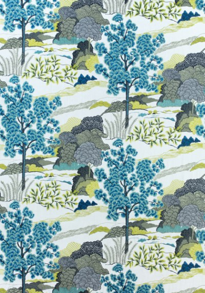 DAINTREE EMBROIDERY, Bluemoon, W785000, Collection Greenwood from Thibaut