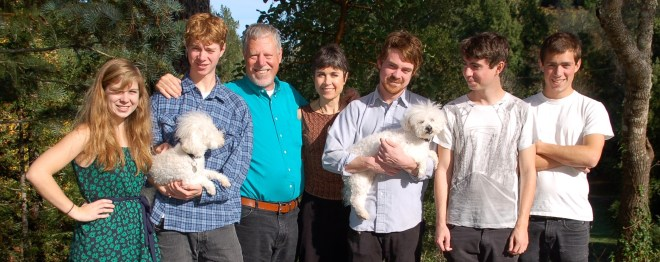 The Thiessen family at home
