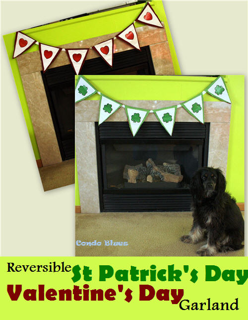 reversible valetine st patrick DIY decor