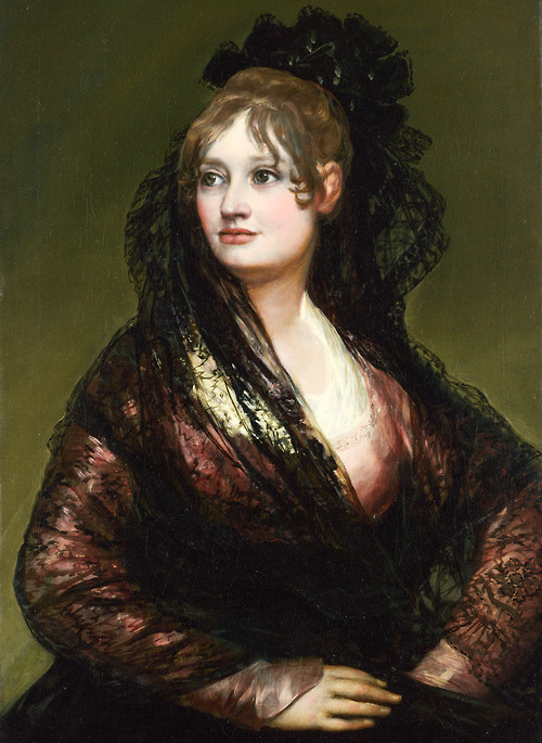 "Goya. ""Portrait of Doña Isabel de Porcel,"" 1805. Image via Jaded Mandarin."