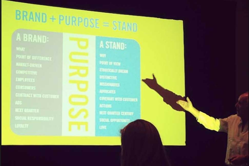 Joey Reiman delivers keynote speech at Fused Conference (Thanks for photo, Susie Castillo!)