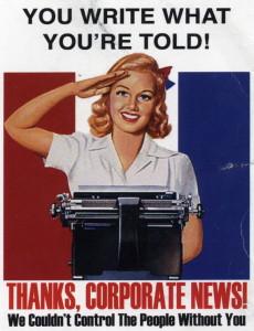 Press freedom speech propaganda poster
