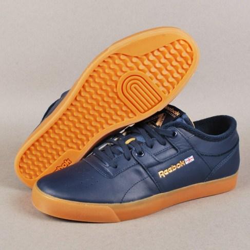 Palace x Reebok Workout Low Clean FVS Skate Shoes - Navy/White