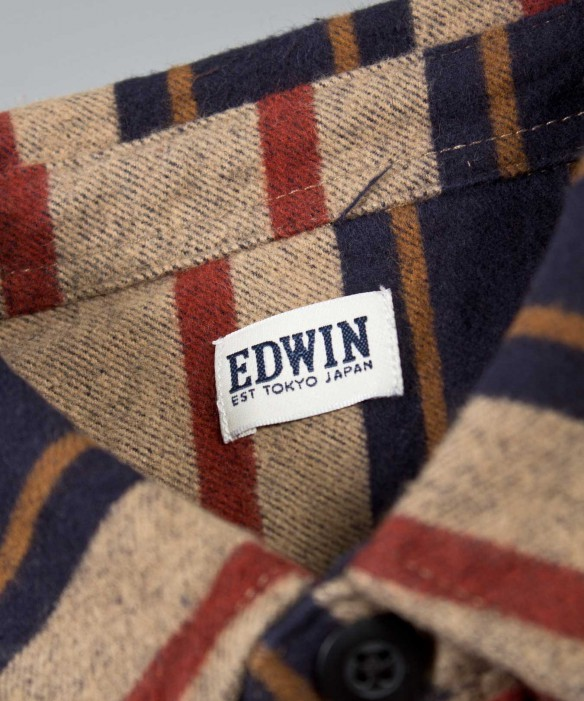 Edwin Labour Shirt Multi Stripe