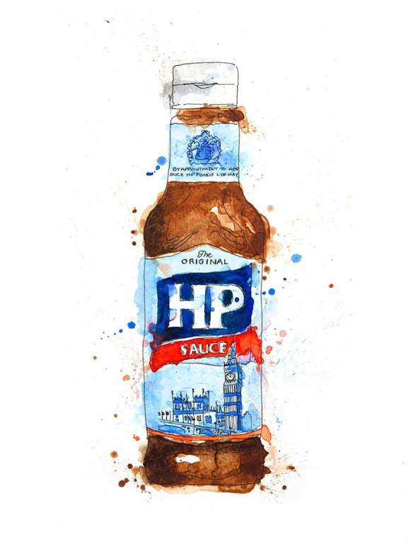 Watercolour Paintings of Bottles and Jars