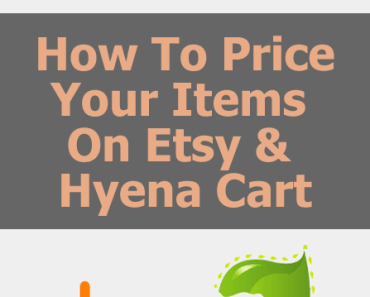how to price your items on etsy and hyena cart