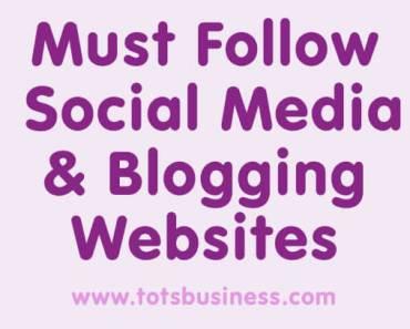 must follow social media and blogging websites