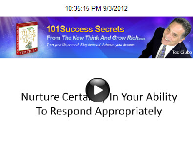 Nurture Certainty In Your Ability To Respond Appropriately