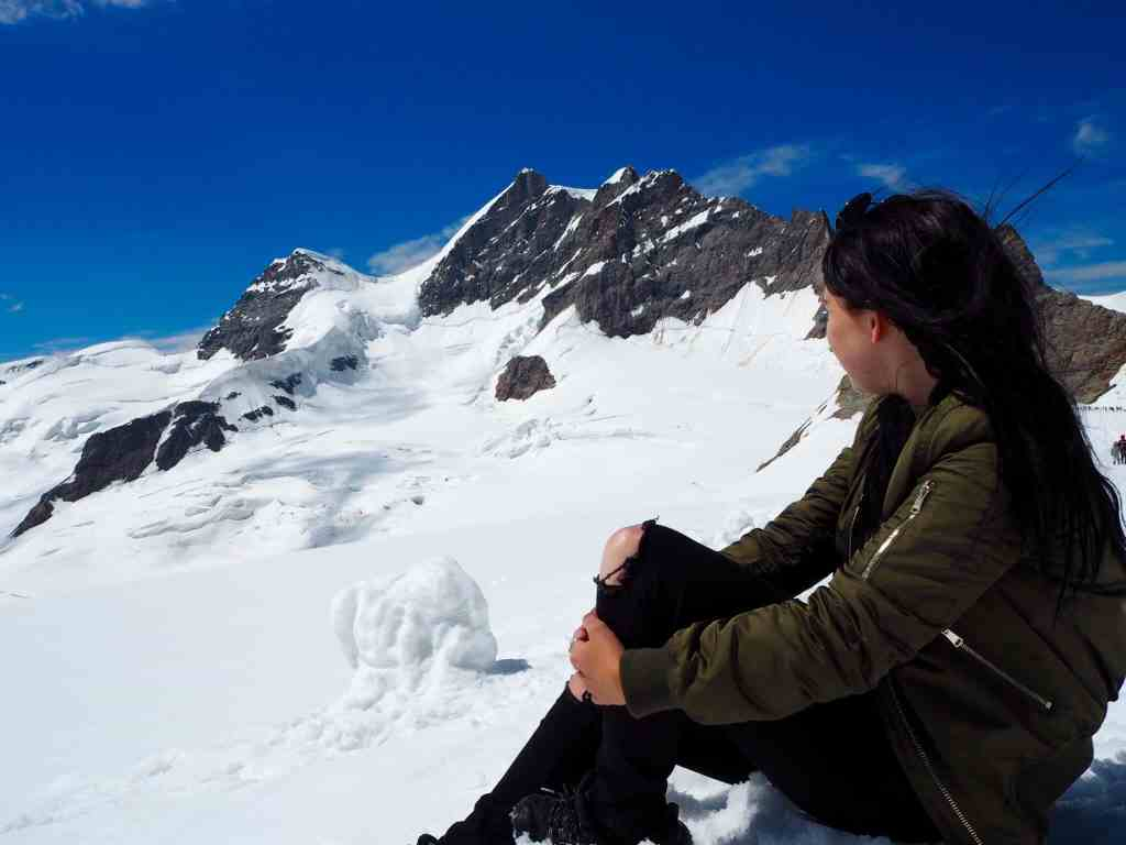 STANDING ON TOP OF EUROPE AT THE JUNGFRAUJOCH