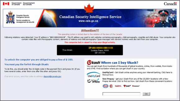 Canadian Security Intelligence Service Virus